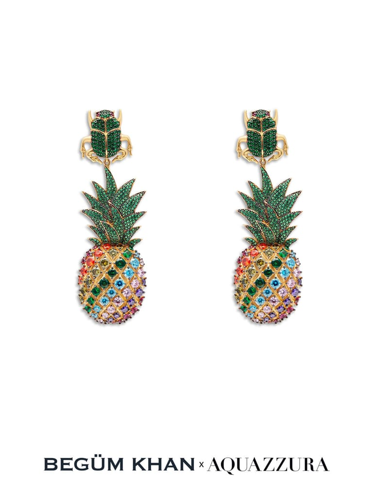 Begum & Eddie's Pineapple Cocktail Earrings