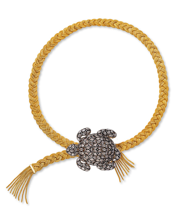 TARTARUGA BELT---CRYSTAL GOLD PLATED