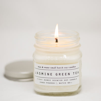 Jasmine Green Tea 8 Oz Mason Candle