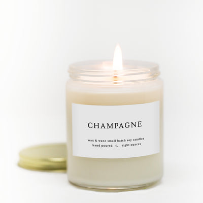 Champagne 8 Oz Modern Soy Candle