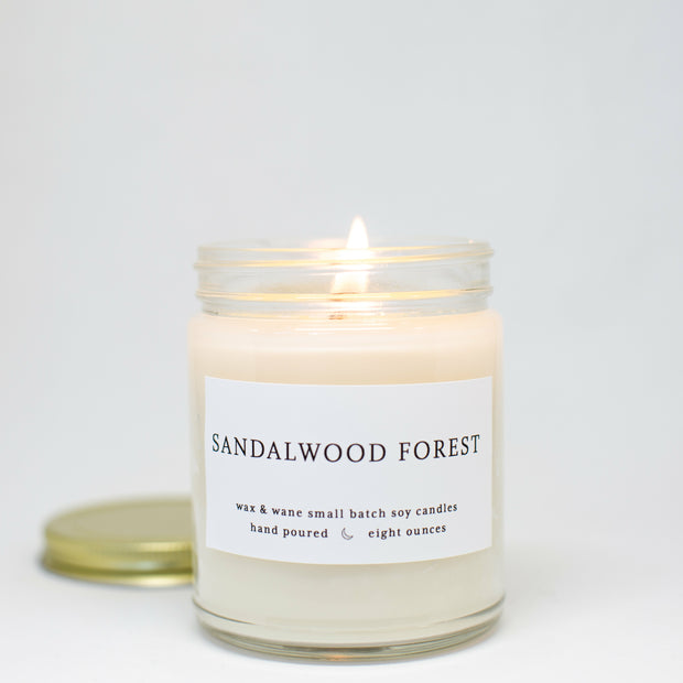 Sandalwood Forest 8 oz Modern Soy Candle
