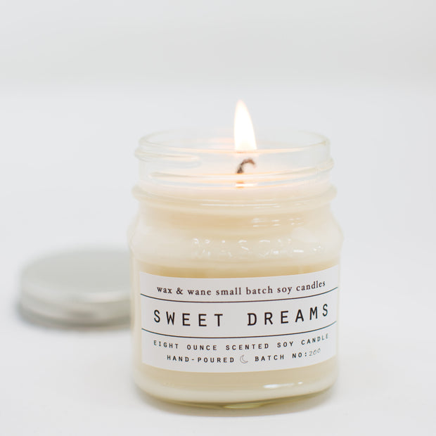 Sweet Dreams 8 Oz Mason Candle