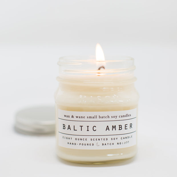 Baltic Amber 8 Oz Mason Candle