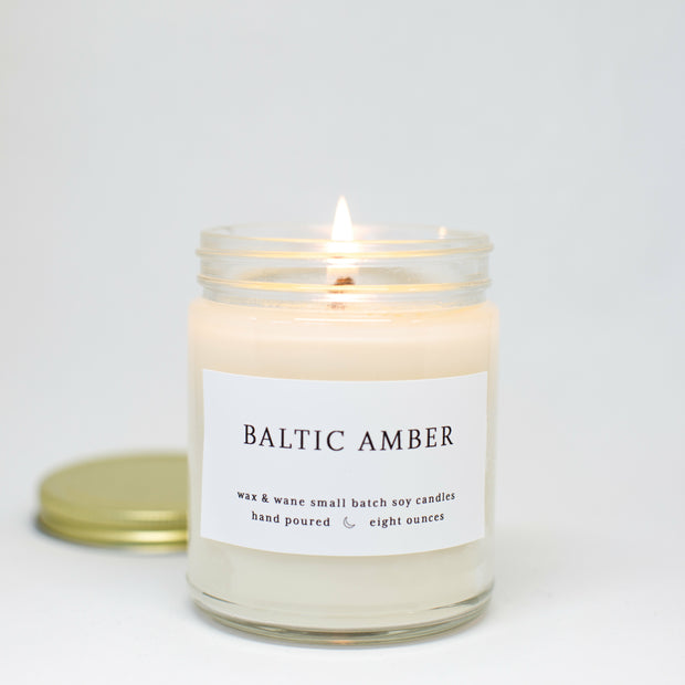 Baltic Amber 8 Oz Modern Candle