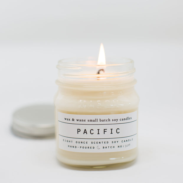 Pacific 8 Oz Mason Candle
