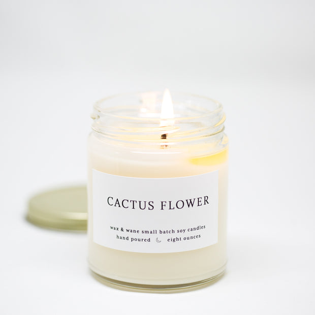 Cactus Flower 8 oz Modern Candle