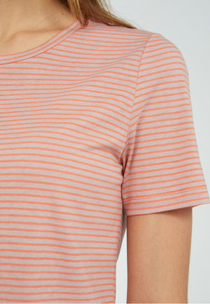 T-Shirt LIDIAA SMALL STRIPES sunrise-kinoko