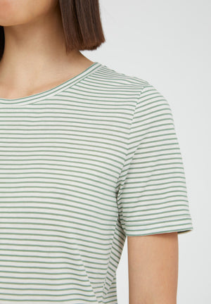 T-Shirt LIDIAA SMAL STRIPES matcha-oatmilk