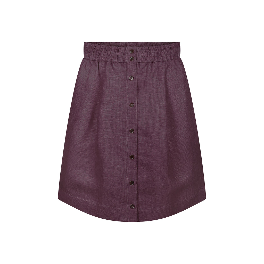 TENCEL™ | Linen Skirt Dark Purple