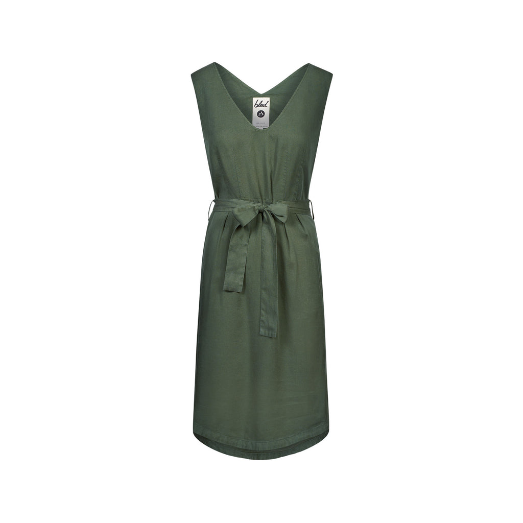 Light-Breeze TENCEL™ Dress Dark Green