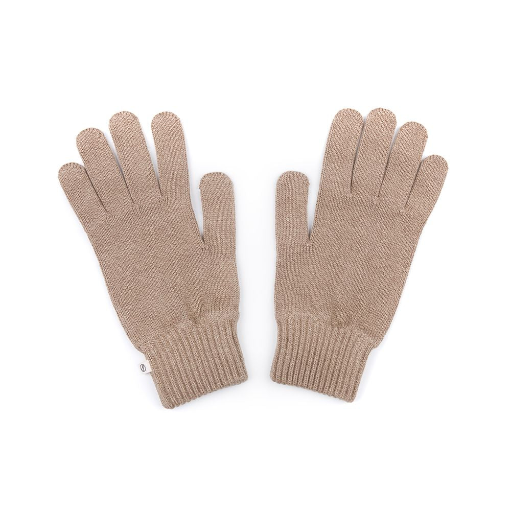 Ecoknit Handschuhe Taupe