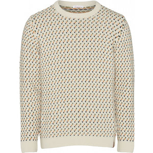 VALLEY jacquard o-neck knit Pullover
