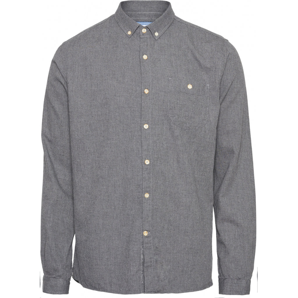 ELDER Regular Fit melange flannel Shirt