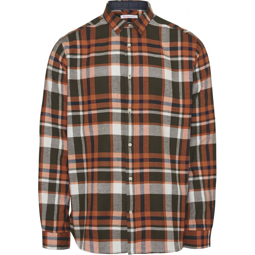LARCH Casual Fit checked flannel Shirt