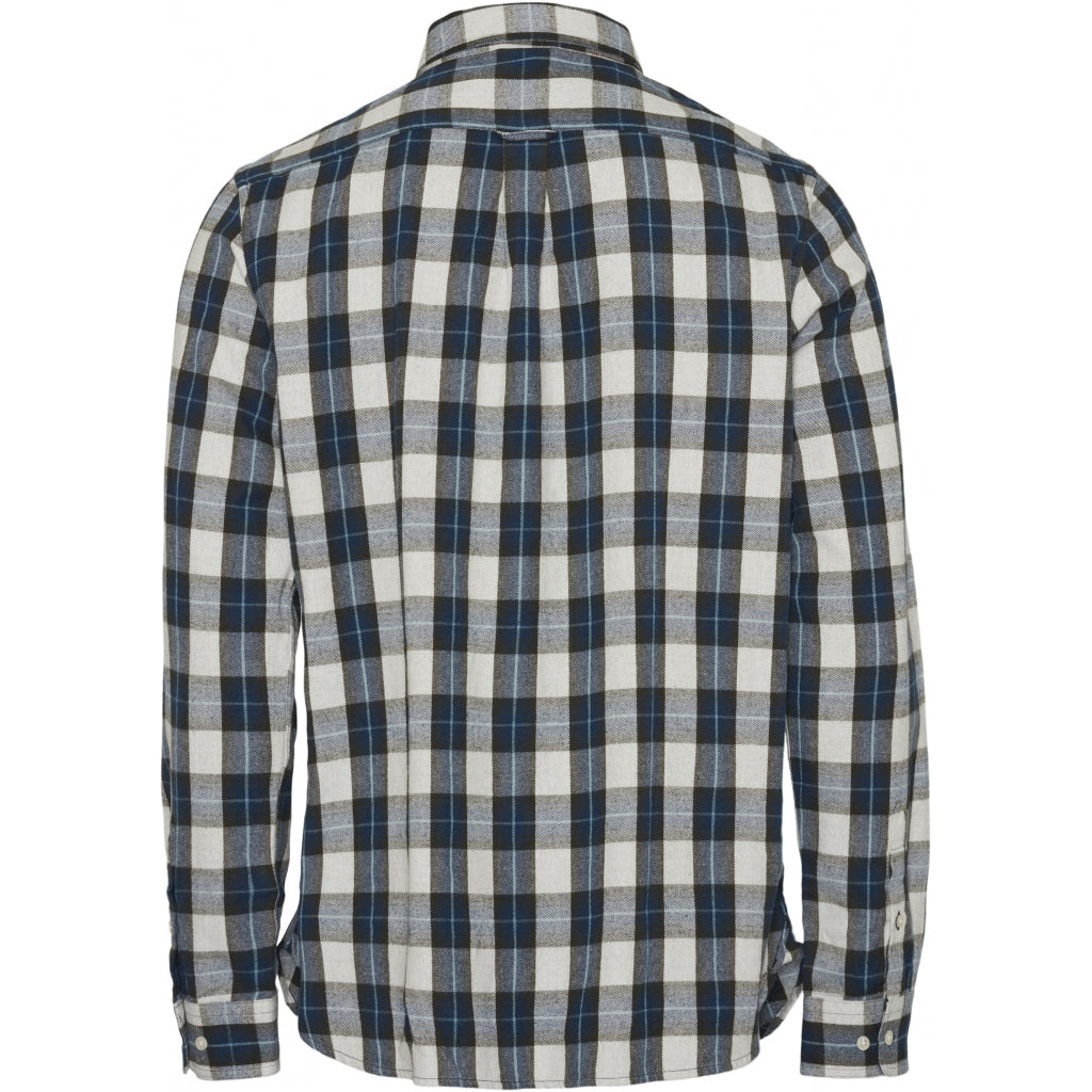 LARCH Casual Fit small checked Flannel Shirt von Knowledge