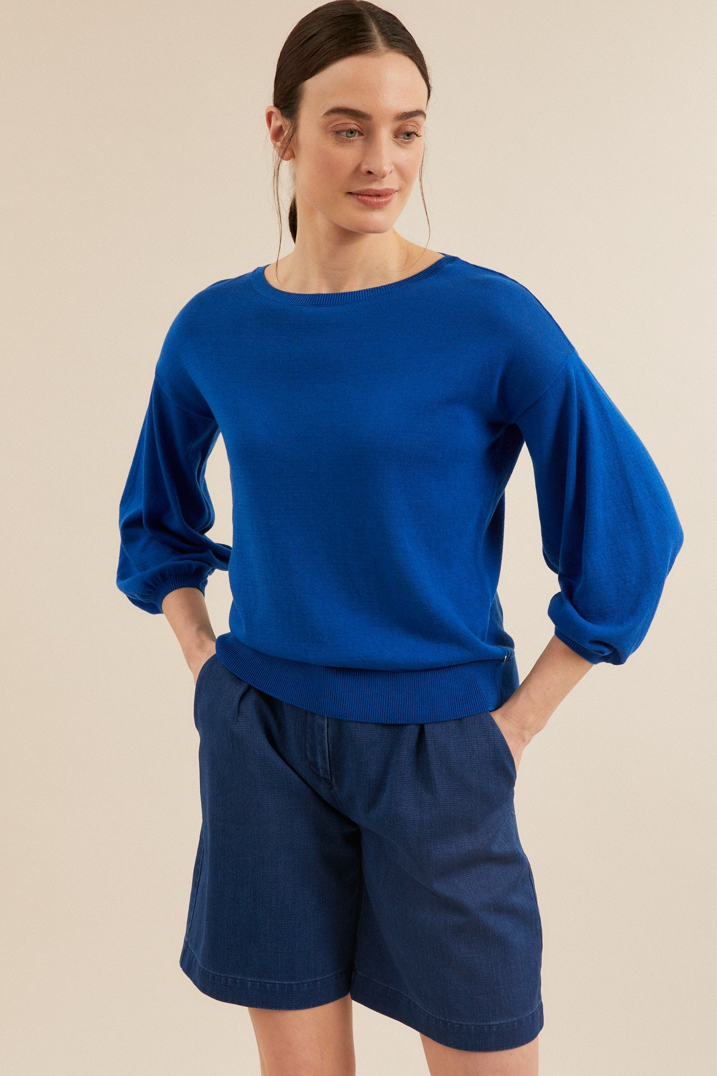 Pullover 3/4 Arm Azure