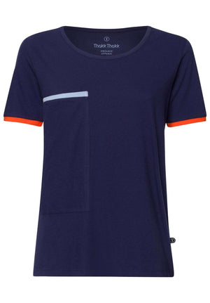 Pocket Damen T-Shirt Midnight