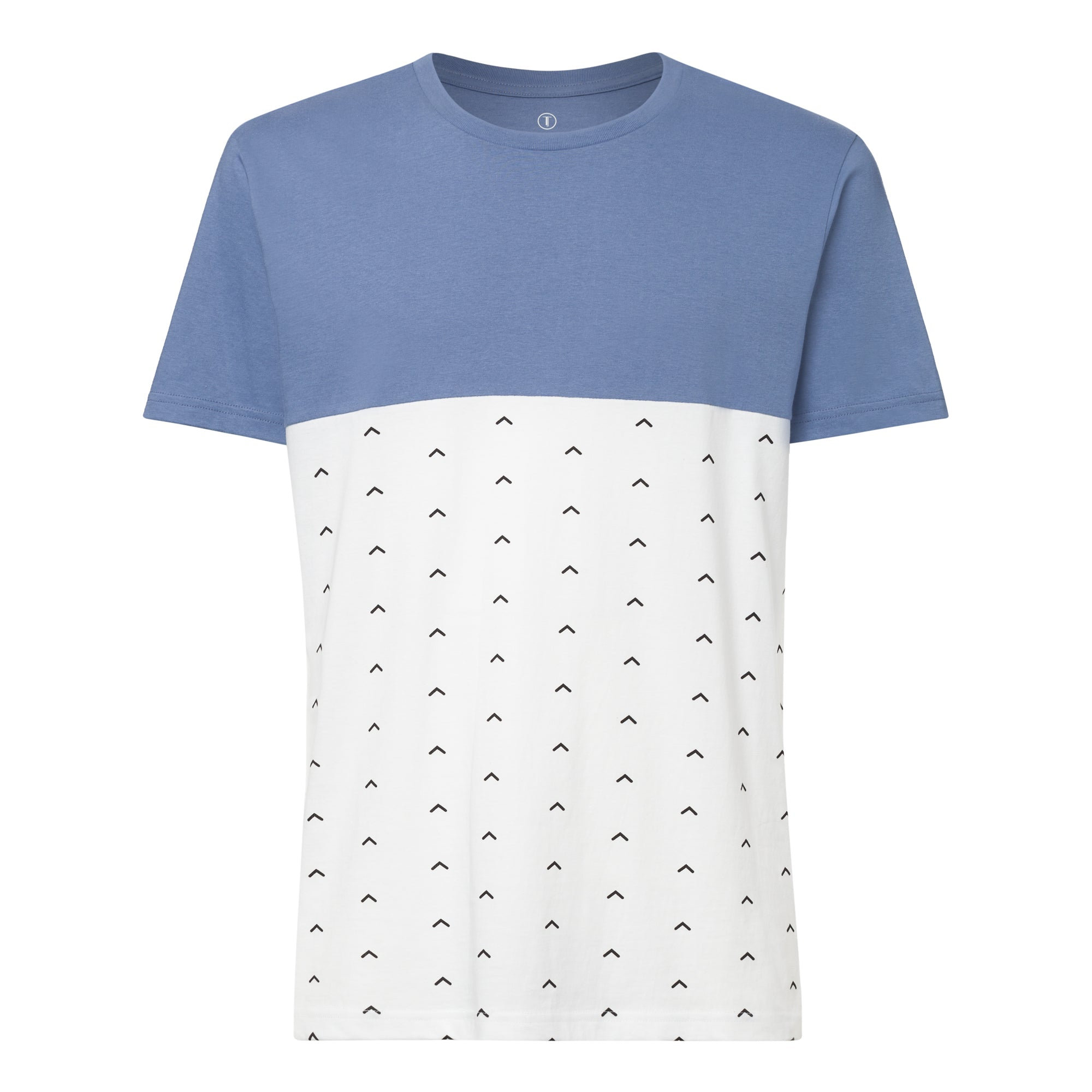 Upwards T-Shirt ironblue/white GOTS & Fairtrade