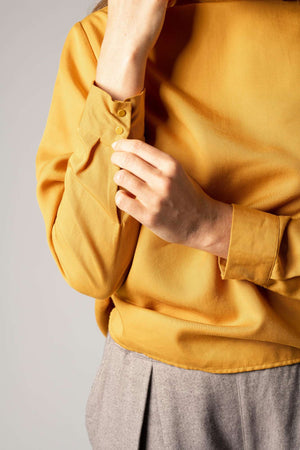Turtleneck Blouse Golden Yellow