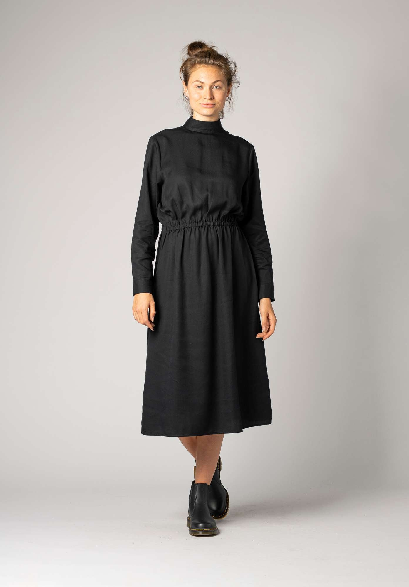 Turtleneck Dress Black