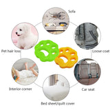 2pcs Pet Hair Catcher Cat Dog Fur Lint Hair Remover Clothes Dryer Washing Machine Accessories Reusable Cleaning Laundry Catcher