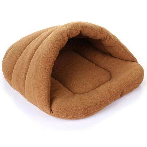 Warm Soft Polar Fleece Dog Beds Winter Warm Pet Heated Mat Slippers Beds Kennel House for Cats Sleeping Bag Nest Cave Bed
