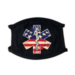 Health Care Logo America Flag Face Mask