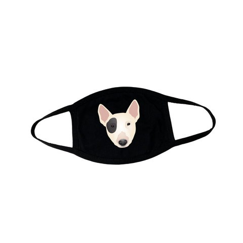 Bull Terrier Puppy Face Mask