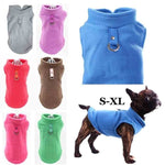2020 7 Colors Dog Fleece Sweaters Vest Harness Jacket Puppy Outfits Puffer Coat Autumn Fall Warm Soft Winter Clothes Small Dogs