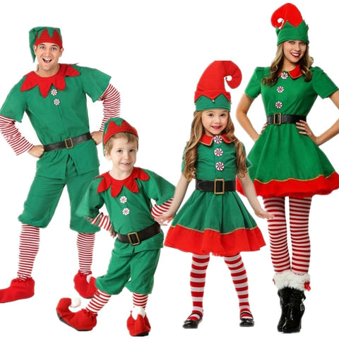 Family Christmas Little Elf Play Costume