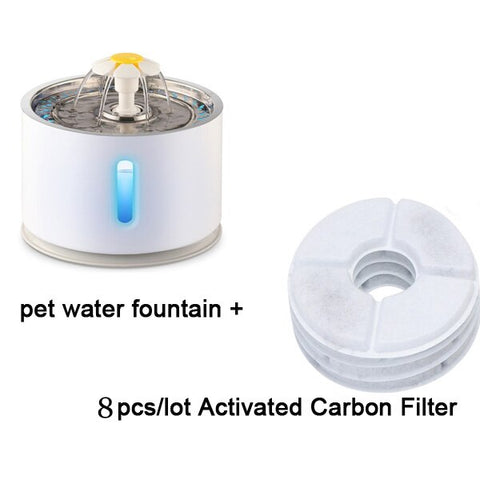 2.4L Automatic Cat Water Fountain Water level Window LED Electric Mute Water Feeder Dog Pet Drinker Bowl Pet Drinking Dispenser