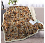 Golden Retriever Sherpa Blanket on Beds Dog Collection Throw Blanket for Kids Animal Dog Soft Bedspreads 3D ZH952