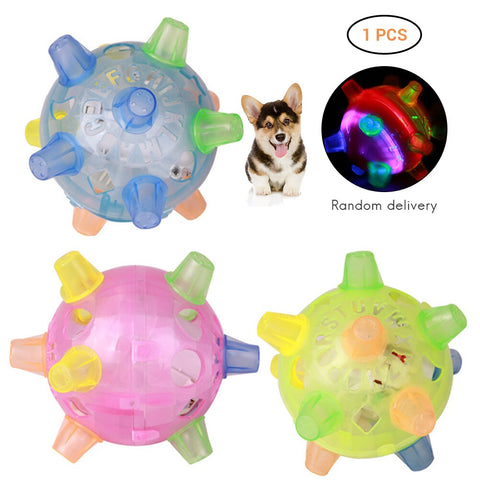 Pet Dog Toys LED Jumping Ball Play Ball Music Bouncing Dancing Balls Toy For Dogs Cats Pet Products Supplies Random Color