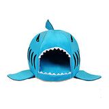 Soft Pet Cushion Dog House Shark