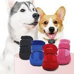 Pets Dog Boots / Shoes Dog Boots / Dog Shoes Casual / Daily Solid Colored For Pets Leather Black / Summer / Winter
