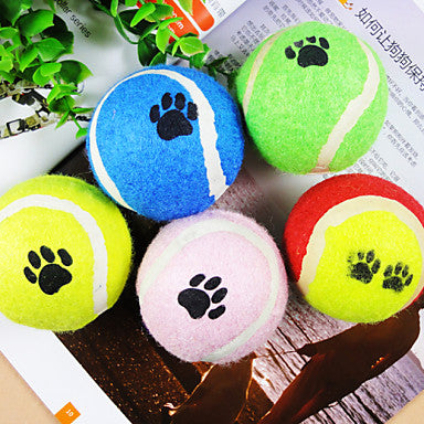 Ball Tennis ball Interactive Toy Cat Toy Dog Toy Pet Toy Footprint Rubber Gift