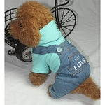 Dog Jumpsuit Winter Dog Clothes Blue Pink Costume Baby Small Dog Cotton Letter & Number Casual / Daily XS S M L XL