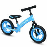 "12"" Kids No-Pedal Balance Bike with Adjustable Seat"