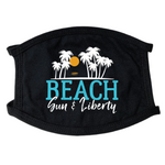 Beach Sun Liberty Face Mask