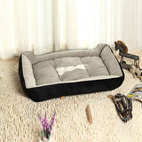 Multi Color Cotton Cute Box Shape Pet Bed for Dogs Cats 70*52*15 cm / 28*20*6 inch
