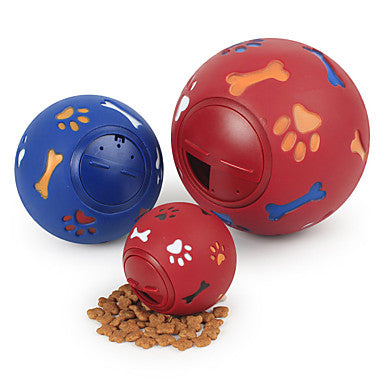 Ball Chew Toy Interactive Toy Dog Cat Pet Toy 1pc Pet Friendly Food Elastic Rubber Gift