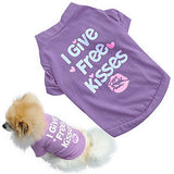 Cat Dog Shirt / T-Shirt Dog Clothes Purple Rose Costume Cotton Letter & Number Casual / Daily XS S M L