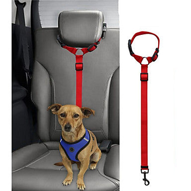 Dog Cat Pets Harness Leash Car Seat Harness / Safety Harness Portable Retractable