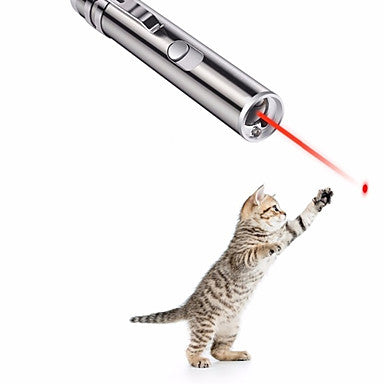 Laser Toy Interactive Toy Dog Cat Pet Toy 1pc Pet Friendly Focus Toy Sparkling Aluminum Gift