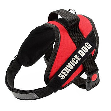Dogs Leash Vest Color Block Nylon Red