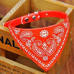 Dog Collar Collar Bandana Adjustable / Retractable Bandanas PU Leather Red Blue Pink