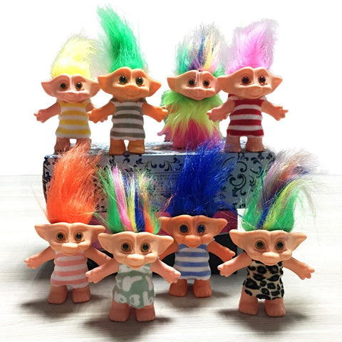 10cm Classic Uniform Troll Doll Figures Leprechauns Toys Russ Troll for Pets or Children Birthday Gift NEW