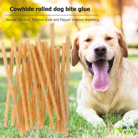 20pcs Dog Molar Chew Sticks Puppy Teeth Clean Stick Cowhide Safety Pets Cleaning Teeth Toys Treats for Cat Dog Puppy Accessories