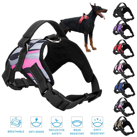Adjustable Nylon Pet Vest No Pull Dog Harness Vest For Big Dog, Large Dog Leash Collar Pet Supplies Accessories S to XL