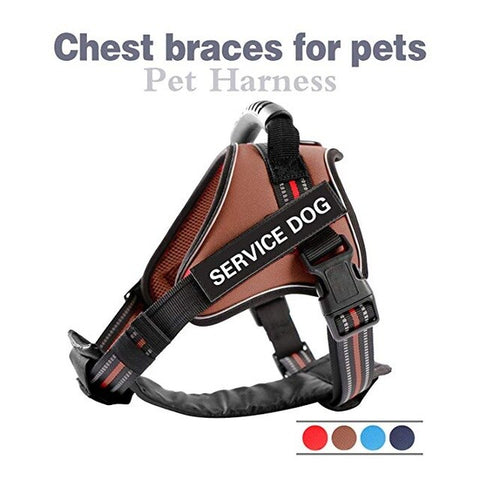 Pet Leash Nylon Heavy Duty Dog Pet Harness Collar Adjustable Padded Soft Dog Harnesses Vest for Small Medium Large Dogs Supplies